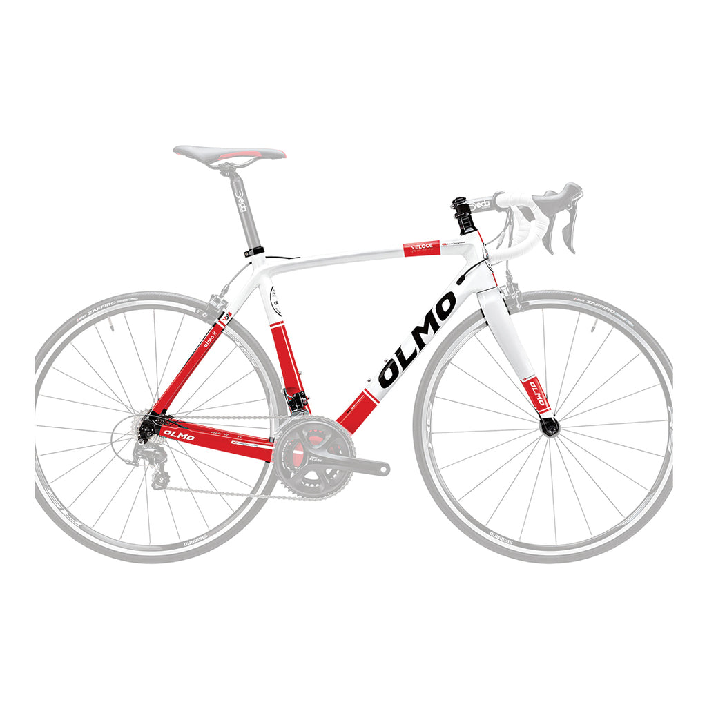 Olmo Veloce Zero Uno Bicycle Frame - Red/White