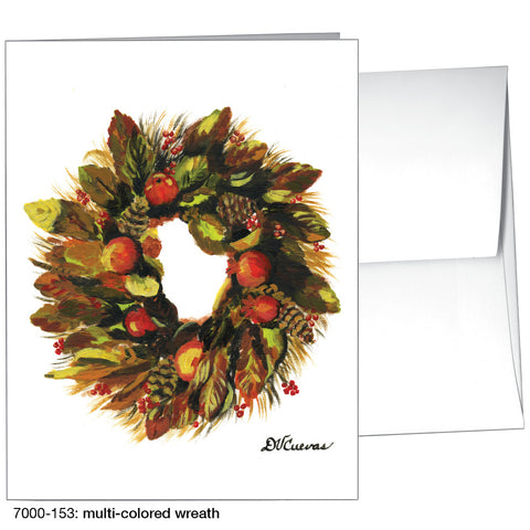 multi-colored wreath (#7000-153)