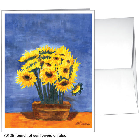 bunch of sunflowers on blue (#7012B)