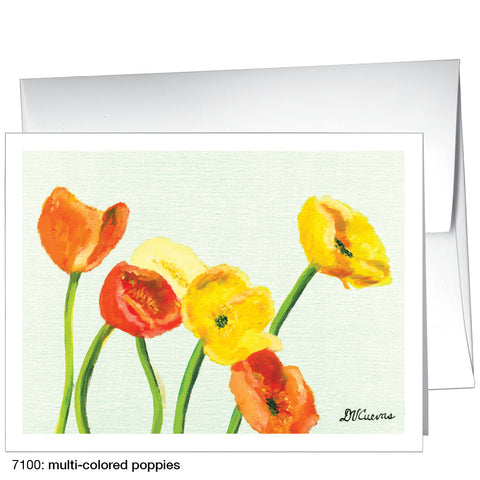 multi-colored poppies (#7100)
