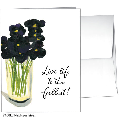 black pansies (#7108E)
