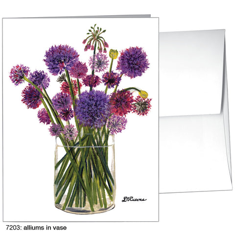alliums in vase (#7203)