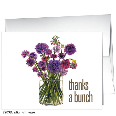 alliums in vase (#7203B)