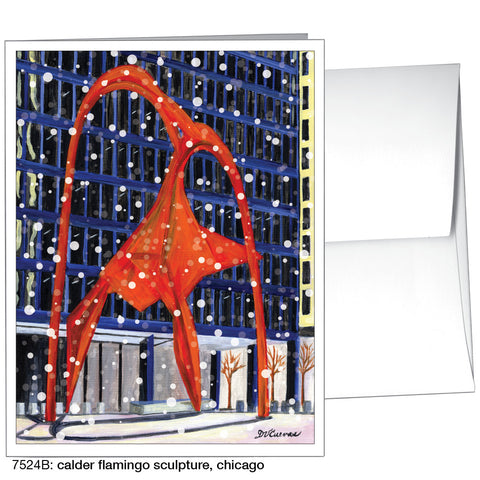 calder flamingo sculpture, chicago (#7524B)