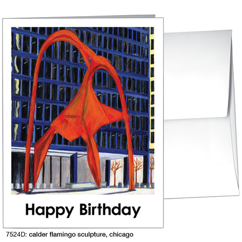 calder flamingo sculpture, chicago (#7524D)