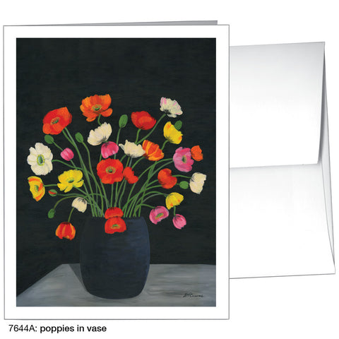 poppies in vase (#7644A)