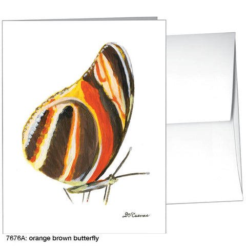 orange brown butterfly (#7676A)