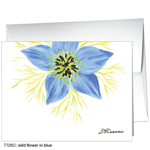 wild flower in blue (#7726C)
