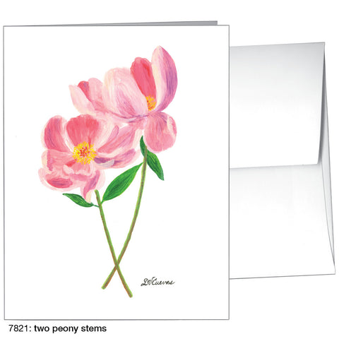 two peony stems  (#7821)