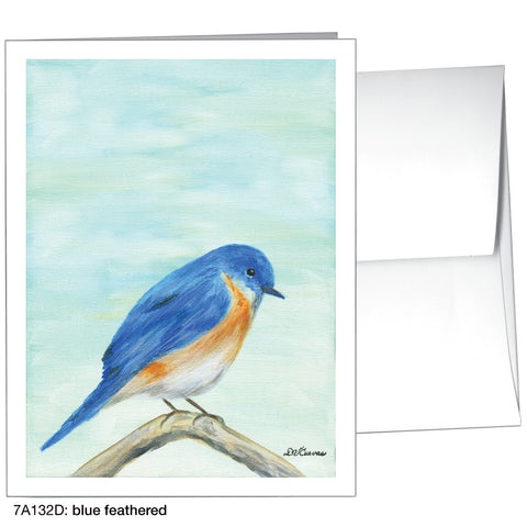 blue feathered (#7A132D)