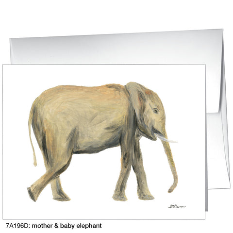 mother & baby elephant (#7A196D)