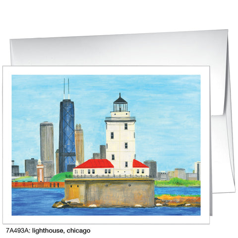 lighthouse, chicago (#7A493A)