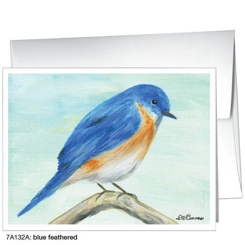 blue feathered (#7A132A)