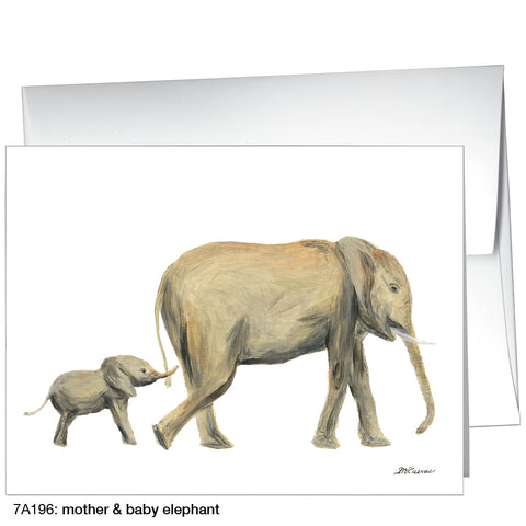 mother & baby elephant (#7A196)