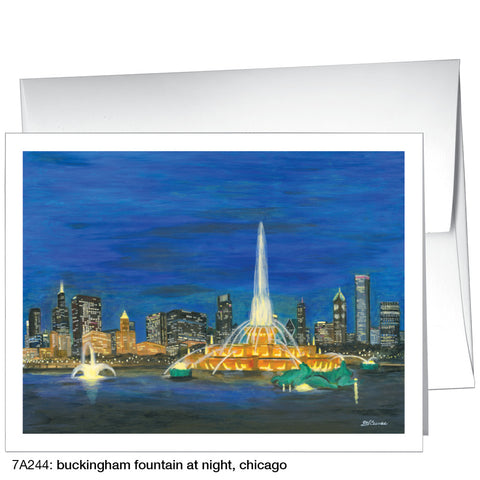 buckingham fountain at night, chicago (#7A244)