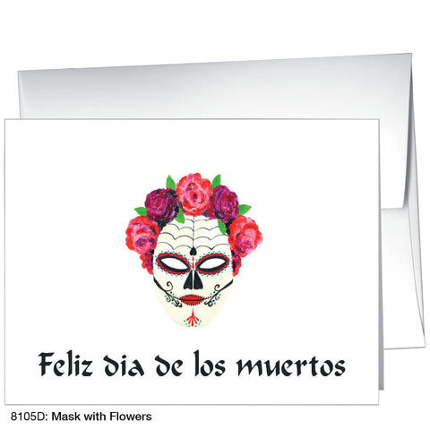 Mask with Flowers (#8105D)