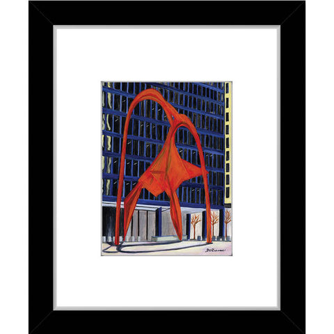 calder flamingo sculpture, chicago (#7524)