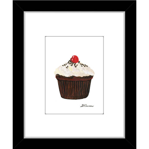 cherry topped cupcake (#7897)