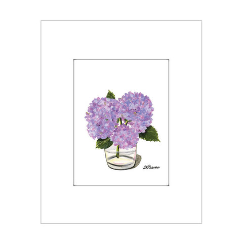 hydrangeas in glass (#7307)