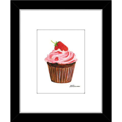 strawberry topped cupcake (#7895)