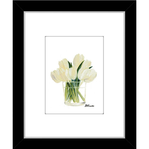 white tulips in glass (#7096A)