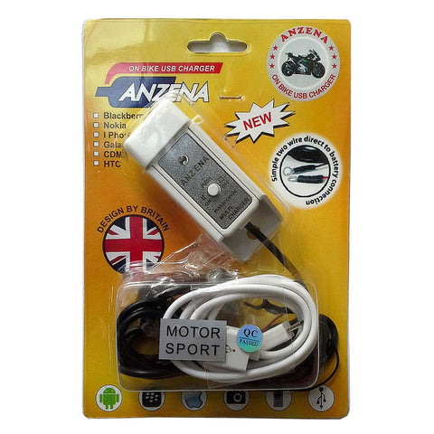 CHARGER Motor Anti Air untuk BB, iPhone, Android, GPS, Powerbank dll.