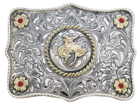 "Vogt Silversmiths Ranchero 3"" Trophy Belt Buckle"