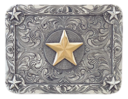 "Vogt Silversmiths Channel Star Trophy 3"" Belt Buckle"