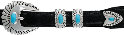 "Alexander Kalifano Turquoise 3/4"" Chief Belt Buckle"
