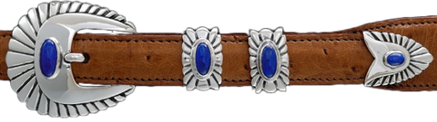 "Alexander Kalifano Lapis 3/4"" Chief Belt Buckle"