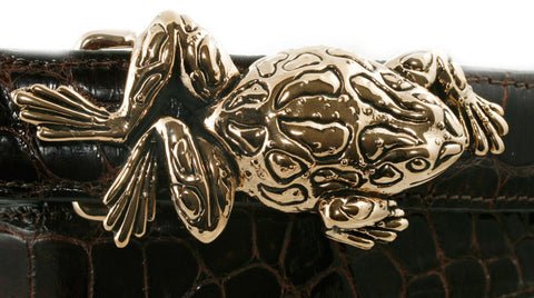 "Alexander Kalifano Ancient Bronze 1"" Frog  Belt Buckle"