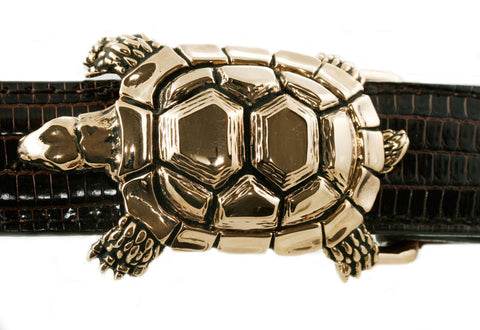 "Alexander Kalifano Ancient Bronze 1"" Turtle Belt Buckle"