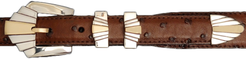 "Alexander Kalfifano Two Tone 1"" Deco Belt Buckle"
