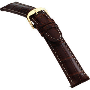 Louisiana Genuine Padded Matte Alligator Bands