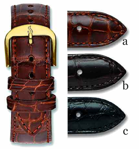 Louisiana Genuine Padded Alligator Bands