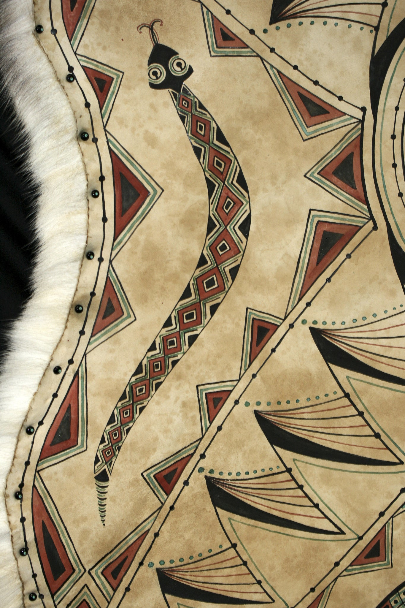 hand painted hides, caribou hides, painted hides, painted animal ...