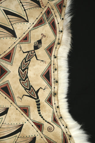 Mimbres Crossing: Painting by Laura Mountain on Caribou