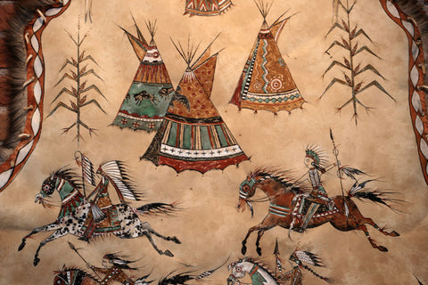 Talk of the Tribe: Painting by Laura Mountain on Caribou