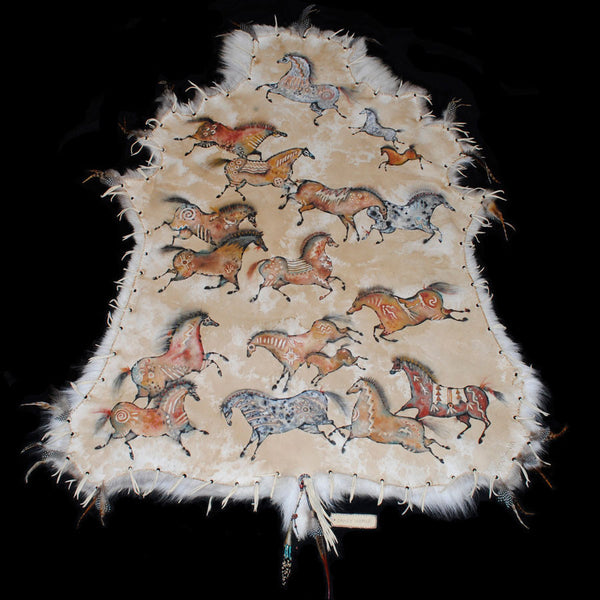 Hand Painted Hides Caribou Hides Painted Hides Painted
