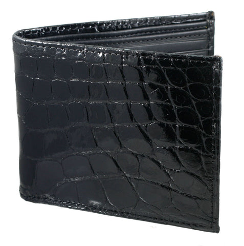Genuine Alligator Hipster Wallet in Black, Brown, or Cognac