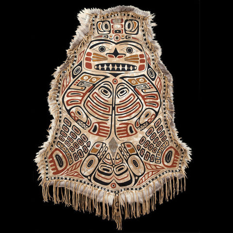 Chilkat: Painting by Laura Mountain on Caribou