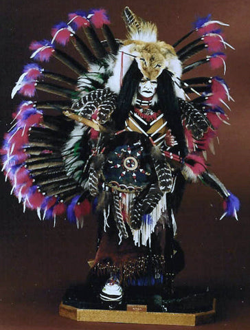 Coyote Dancer Native American Statue by Cindy Jo Popejoy