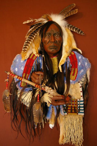 Red Cloud Spirit Mask by Cindy Jo Popejoy - One of a Kind