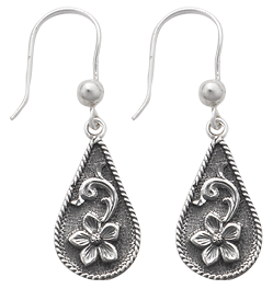 Teardrop Scroll Earrings