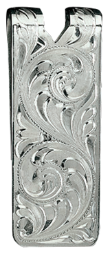 Western Engraved Money Clip
