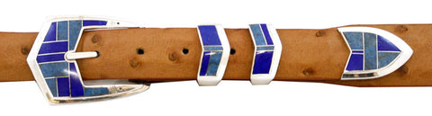 "Supersmith Blue Water 1"" Inlaid Ranger Belt Buckle"