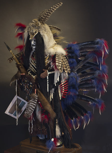 Coyote Dancer Native American Style Statue By Cindy Jo Popejoy