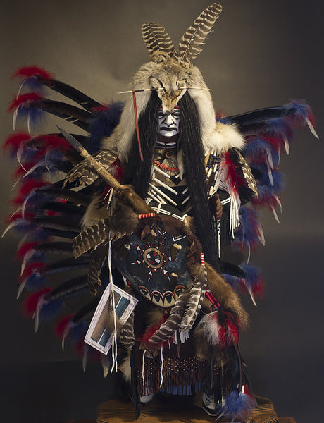 Native American hand painted Masks and Statues by Cindy