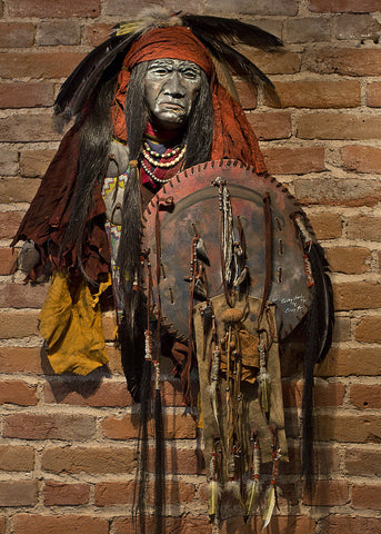 Curley Head Native American Style Spirit Mask by Cindy Jo Popejoy