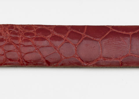 Red Glazed Custom Alligator Belt Strap